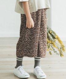 pairmanon/【ママとおそろい】花柄 チェック ストライプ ロング フレア ガウチョ パンツ ワイドパンツ/502962254