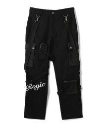 LHP/ROGIC/ロジック/LOGO PANTS BLACK/502962783