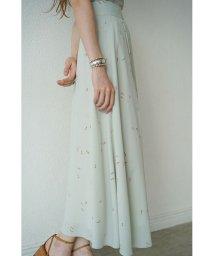 CLANE/SPRINKLE FLOWER LONG SKIRT/502963103
