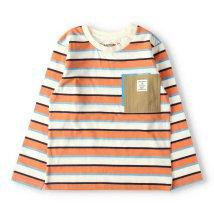 RADCHAP/ポケット付きマルチボーダー長袖Tシャツ(90~150cm)/502963491