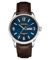 ARMITRON NEWYORK/ARMITRON 腕時計 アナログ シルバートーン ブラウンレザーウォッチ/502963496