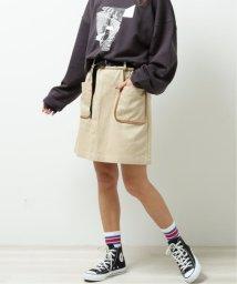 DOUBLE NAME/パイピングポケ台形スカート/502963643