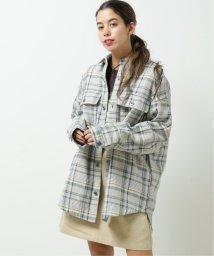 DOUBLE NAME/オリジナルチェックシャツコート/502963657