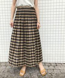 ROPE' mademoiselle/【おうち服】【2WAY】シャーリングリバーシブルチェックスカート/502963913