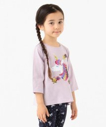 anyFAM(KIDS)/【100-130cm】ミラクルスパンコール 7分丈Tシャツ/502965578