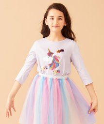 anyFAM(KIDS)/【140-150cm】ミラクルスパンコール 7分丈Tシャツ/502965579