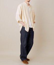 ADAM ET ROPE'/〈プレミアムコットン〉バンドカラーパナマシャツ/502934946