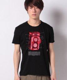 SISLEY/コットンスラブ型押し半袖Tシャツ・カットソー/502941489