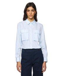 BENETTON (women)/ストレッチボックス型アウトポケットストライプシャツ・ブラウス/502946362