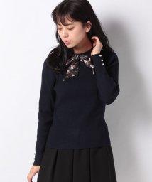axes femme/花柄スカーフ付ニットプルオーバー/502950162