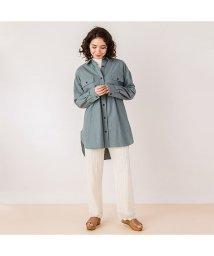 petit main LIEN/胸ポケットロングシャツ/502936230