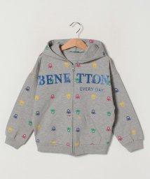 BENETTON (UNITED COLORS OF BENETTON GIRLS)/スウェット総柄ロゴジップアップパーカー/502947512