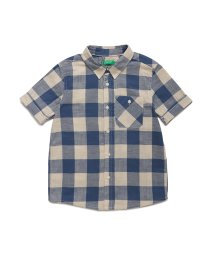 BENETTON (UNITED COLORS OF BENETTON BOYS)/ブロックチェック半袖バックプリントシャツ/502947515
