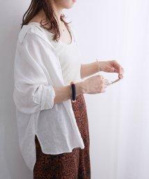 ROPE' mademoiselle/【テレワーク映え】【おうち服】オープンカラーリネンシャツ/502967604