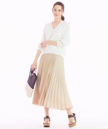 JIYU-KU /【洗える】POWDER サテン プリーツスカート/502967975