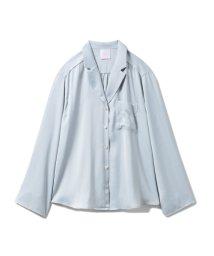 gelato pique/【SAKURA】フラワーサテンシャツ/502968595