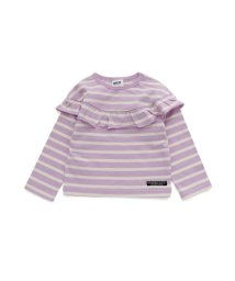 BREEZE/ボーダーフリルTシャツ/502878778