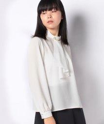 MISS J/【洗える】ブローチ付き ボウタイブラウス/502961628