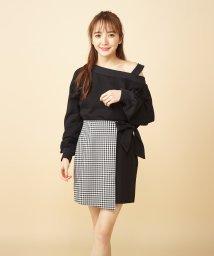 MIIA/ギンガムチェックラップ風スカート/502967679