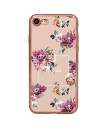 Mーfactory/74309-3 iPhone8 rienda[メッキクリアケース/Brilliant Flower/バーガンディー]/502968106