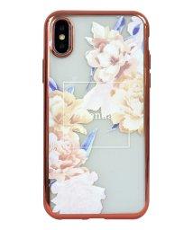 Mーfactory/74310-1 iPhoneXS rienda[メッキクリアケース/Reversi Flower/ベージュ]/502968107