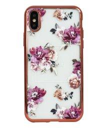 Mーfactory/74310-3 iPhoneXS rienda[メッキクリアケース/Brilliant Flower/バーガンディー]/502968109