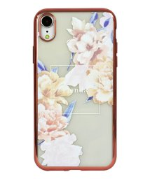 Mーfactory/74311-1 iPhoneXR rienda[メッキクリアケース/Reversi Flower/ベージュ]/502968110