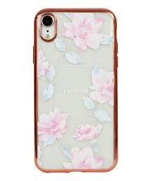 Mーfactory/74311-2 iPhoneXR rienda[メッキクリアケース/Lace Flower/ピンク]/502968111