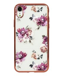 Mーfactory/74311-3 iPhoneXR rienda[メッキクリアケース/Brilliant Flower/バーガンディー]/502968112