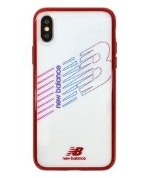 Mーfactory/md-74260-3 iPhoneXS/X New Balance [TPU+PCハイブリッド クリアケース/レッド]/502968147