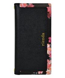 Mーfactory/md-74273-1 iPhone8/7/6 rienda[スクエア/Emerges Flower/ブラック]手帳ケース /502968153