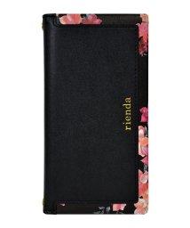 Mーfactory/md-74274-1 iPhoneXS/X rienda[スクエア/Emerges Flower/ブラック]手帳ケース /502968154
