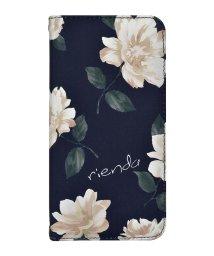 Mーfactory/md-74272-2 iPhoneXS Max rienda[全面/Lace Flower/ネイビー]手帳ケース /502968156