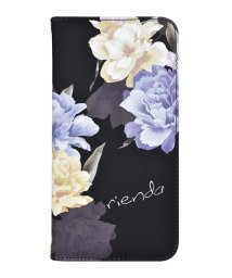 Mーfactory/md-74272-3 iPhoneXS Max rienda[全面/Layer Flower/ブラック]手帳ケース /502968157
