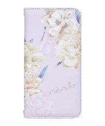 Mーfactory/md-74272-4 iPhoneXS Max rienda[全面/Layer Flower/パープル]手帳ケース /502968158