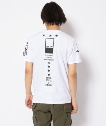 AVIREX/SH/プリントTシャツ 11スターズ/PRINT T-SHIRT 11STARS/502968823