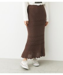 Avan Lily/かぎ編み風ヘムフレアスカート/502968933