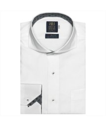 BRICKHOUSE/ワイシャツ 長袖 形態安定 ホリゾンタル  綿100% 白×無地調 標準体/502969552