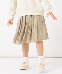 anyFAM(KIDS)/【ママとお揃い/S-M】オーロラサテンギャザースカート/502969911