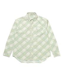 JUNRed/手書き風チェックシャツ/502969929