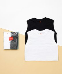 ADAM ET ROPE'/【Hanes for BIOTOP】Sleeveless T-Shirts(ホワイト×ブラック)/502970516