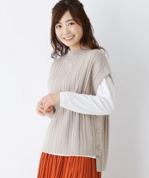 SHOO・LA・RUE Cutie Blonde/脇ボタンニットベストセット/502931134