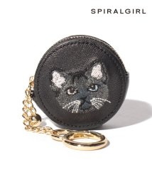SPIRALGIRL/【SPIRALGIRLスパイラルガール】猫ちゃん刺繍キーホルダー付きコインケース/502953743