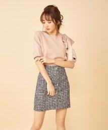 MIIA/ツィードビジュー台形スカート/502969712