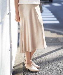MICHEL KLEIN/【洗える】サテンツイルマーメイドスカート/502971007