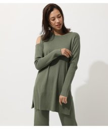 AZUL by moussy/SHOULDER OPEN TUNIC KNIT TOPS/502971092