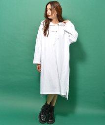 revenil/CONVERSE コンバース 天竺カラフルロゴ刺繍8分袖パーカーワンピ/502971772