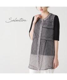 Liliane Burty/【Selection】 シアーチェックプリント ロングベスト /502972175