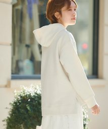 le.coeur blanc/スエードライク裏毛フーディートップス/502932466