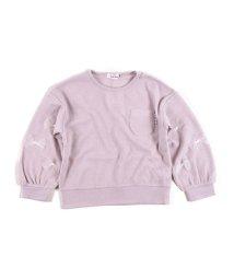 SLAP SLIP/ワッフル袖チュールリボンTシャツ/502938166